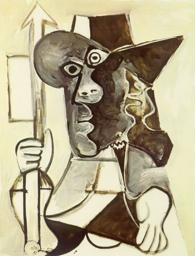 Pablo Picasso. Man with flag, 1969