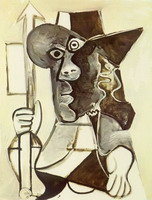 Pablo Picasso. Man with flag