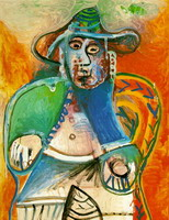Pablo Picasso. Old man sitting