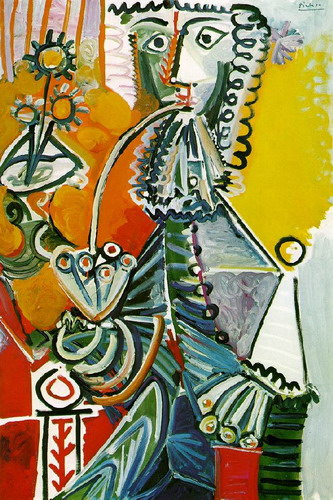 Pablo Picasso. Musketeer with pipe and flowers, 1968