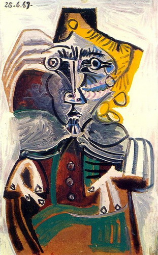 Pablo Picasso. Man in wheelchair, 1969