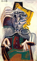 Pablo Picasso. Man in wheelchair