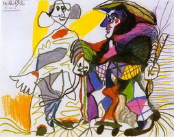 Pablo Picasso. Pierrot and Harlequin, 1969