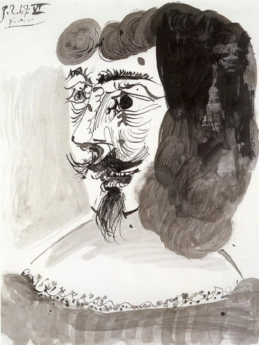 Pablo Picasso. Head musketeer, 1969