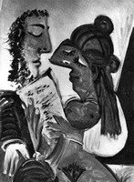 Pablo Picasso. Couple with the book (Reading) / Couple the book (Playback)