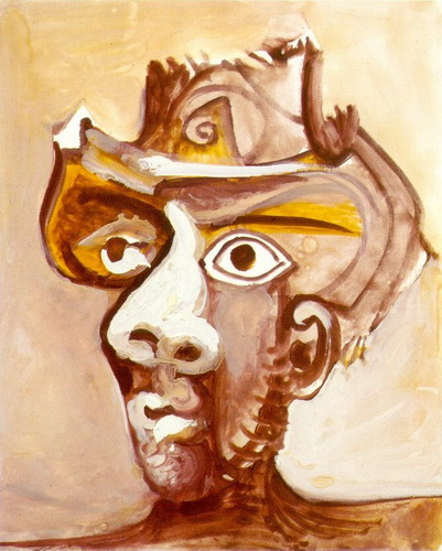 Pablo Picasso. Head man with a hat, 1971