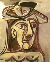 Pablo Picasso. Bust of Woman with a hat