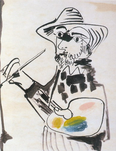 Pablo Picasso. The painter, 1971