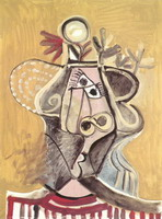 Pablo Picasso. Hat head
