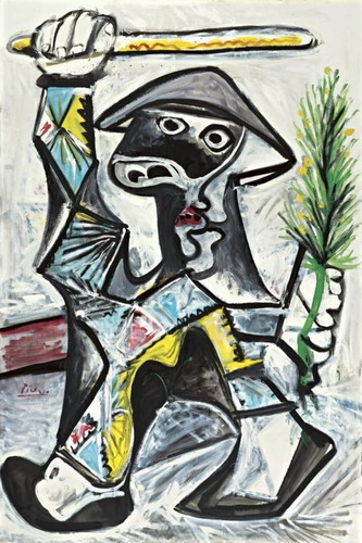 Pablo Picasso. Harlequin with baton, 1969