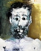 Pablo Picasso. Bust of bearded man