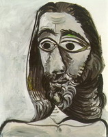 Pablo Picasso. Man head (for Jacqueline)