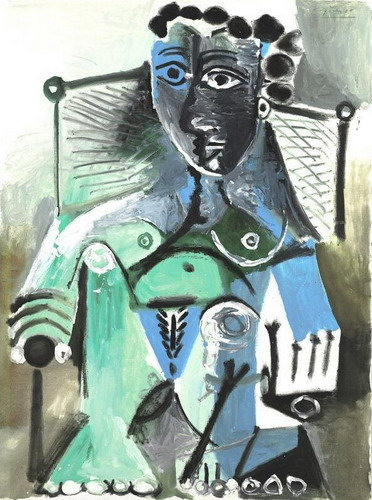 Pablo Picasso. Nude woman sitting in a chair, 1965