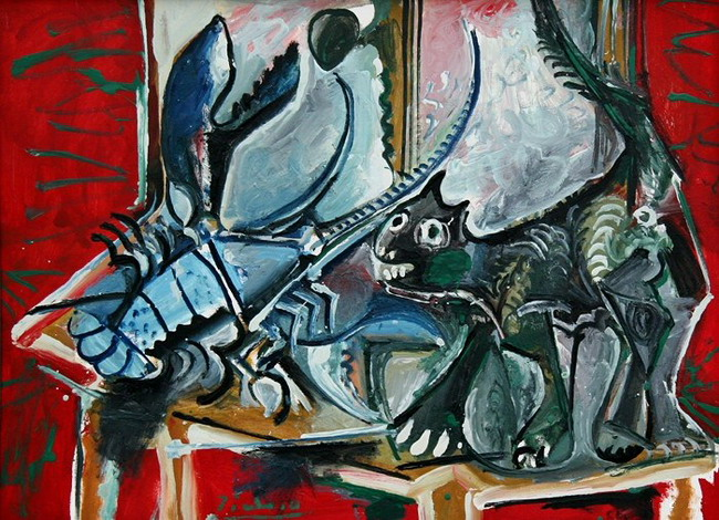 Pablo Picasso. Cat and lobster, 1965