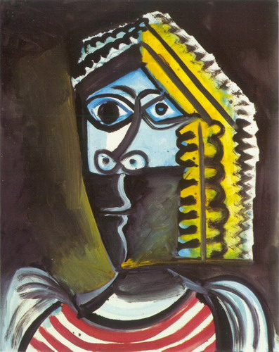 Pablo Picasso. Head of a Woman, 1971