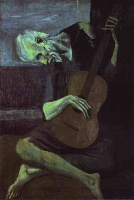 Pablo Picasso. The Old Guitarist, 1903