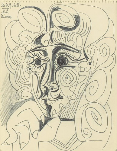 Pablo Picasso. Head of a Woman, 1965