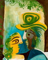Pablo Picasso. Man and woman [torque]