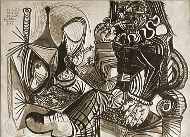 Pablo Picasso. Smoking and Still Life, 1969