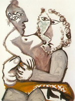 Pablo Picasso. Couple assis