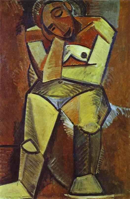 Pablo Picasso. Woman Seated, 1908