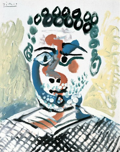 Pablo Picasso. Bust of man, 1965
