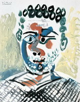 Pablo Picasso. Bust of man