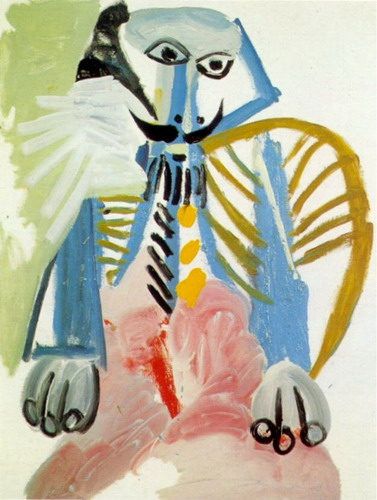 Pablo Picasso. Seated Man, 1969