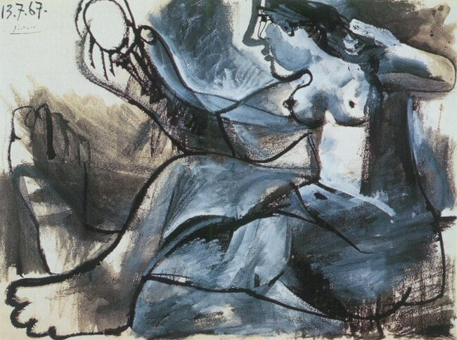 Pablo Picasso. Seated Nude in the mirror, 1967