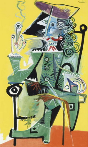 Pablo Picasso. Musketeer with pipe, 1968