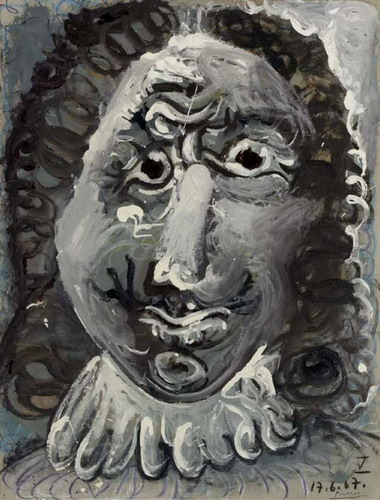 Pablo Picasso. Head musketeer, 1967