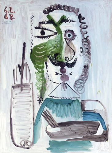 Pablo Picasso. The painter, 1968