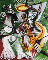 Pablo Picasso. Man and woman