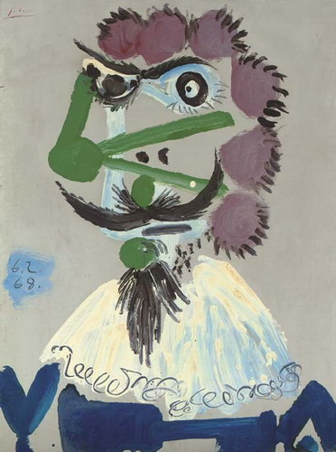 Pablo Picasso. Bust Musketeer, 1968