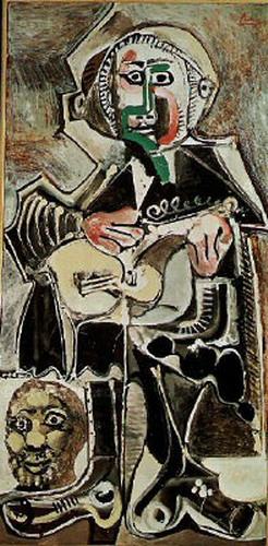 Pablo Picasso. The guitarist, 1965
