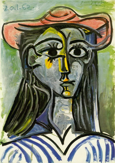 Pablo Picasso. Woman with hat (Bust), 1962