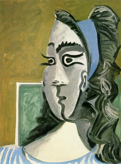 Pablo Picasso. Head of a Woman (Jacqueline) I, 1962