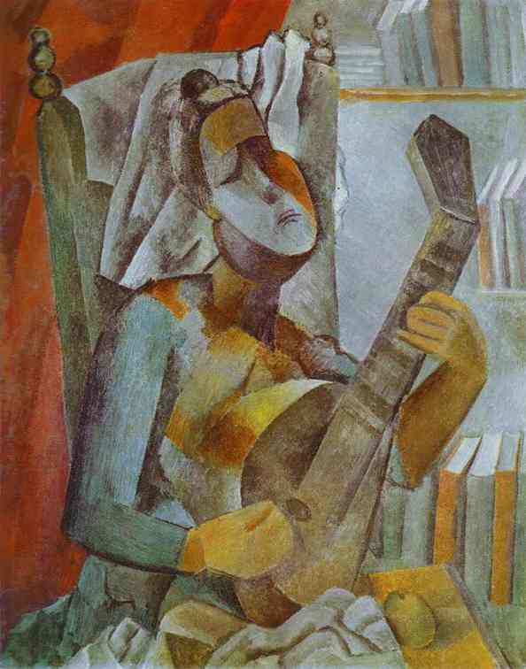 Pablo Picasso. Woman Playing the Mandoline, 1909