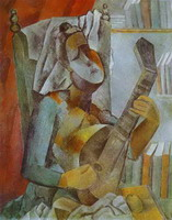 Pablo Picasso. Woman Playing the Mandoline