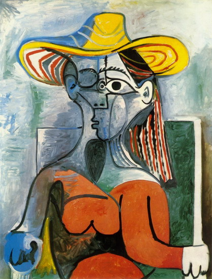 Pablo Picasso. Bust of Woman with a Hat, 1962