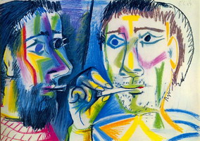 Pablo Picasso. Two smokers (Heads)