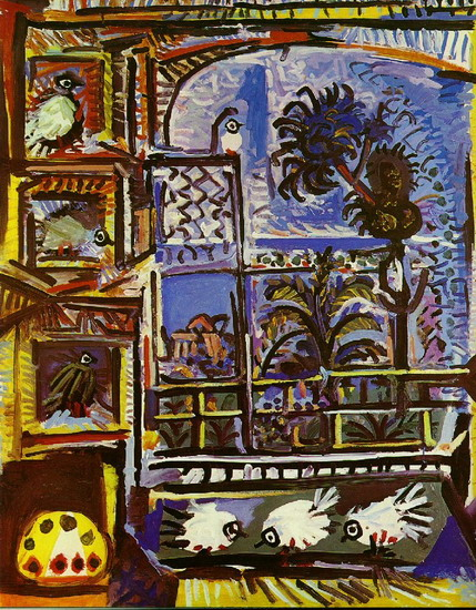 Pablo Picasso. My workshop (Pigeons) IIII, 1957