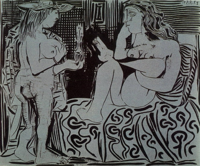 Pablo Picasso. Two women, 1959