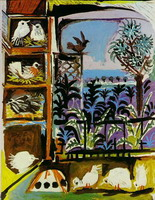 Pablo Picasso. My workshop (Pigeons) II