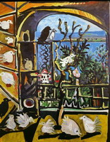 Pablo Picasso. My workshop (Pigeons) I