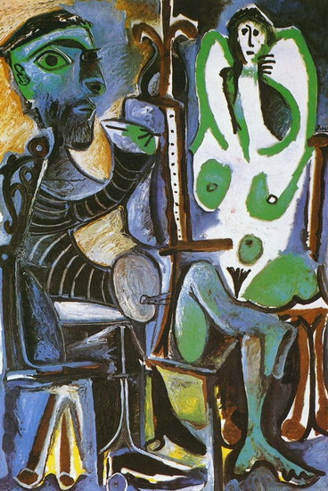 Pablo Picasso. The Artist and His Model 5, 1963