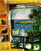 Pablo Picasso. My workshop (Pigeons) III