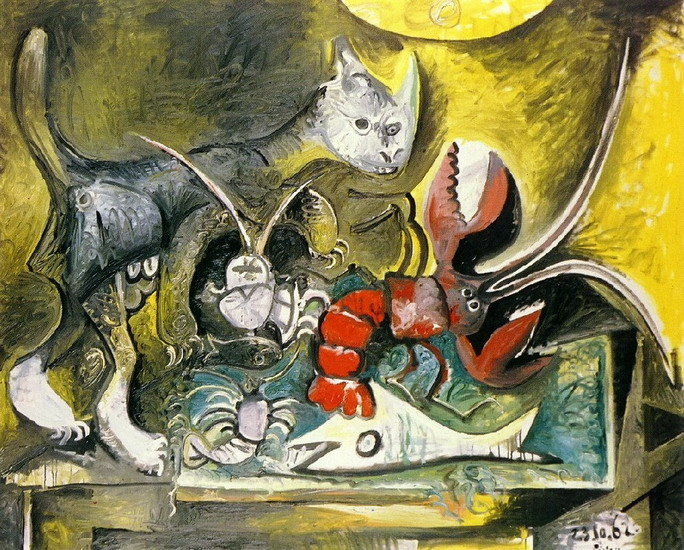 Pablo Picasso. Still Life with Cat and Lobster, 1962