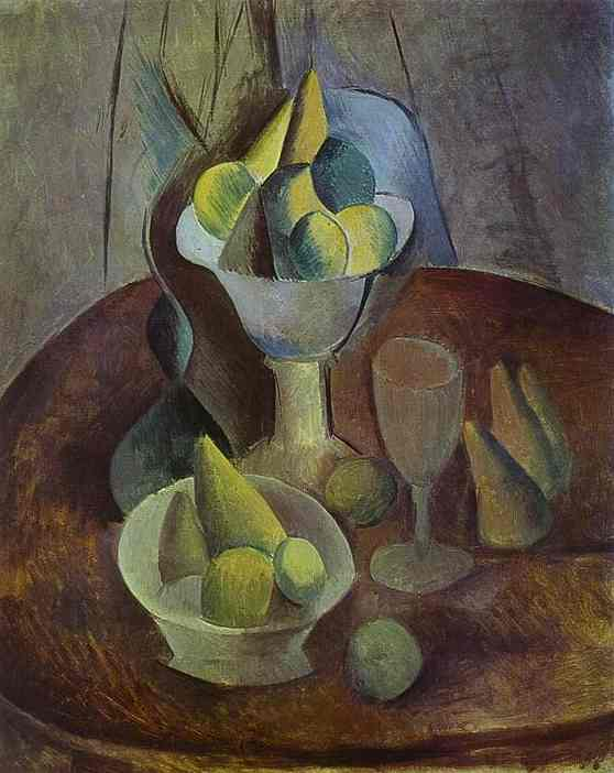 Pablo Picasso. Compotier, Fruit, and Glass, 1909