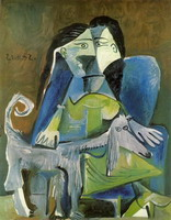 Pablo Picasso. Woman with dog